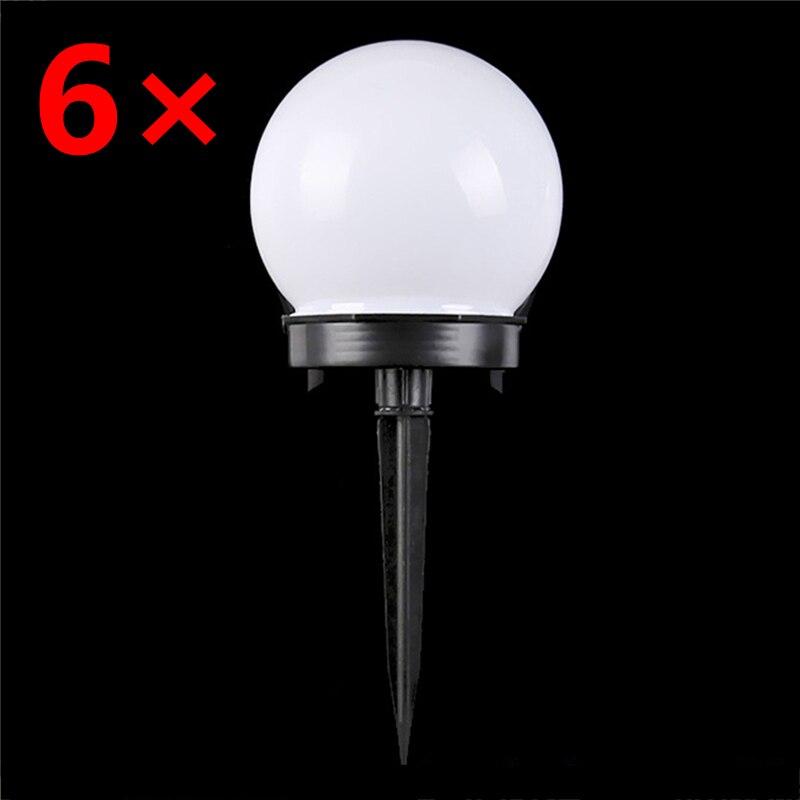 6 unids/lote de luz Solar de jardín, bombilla LED impermeable, luz de jardín de césped, luces nocturnas de Camping al aire libre, lámpara Solar de paisaje