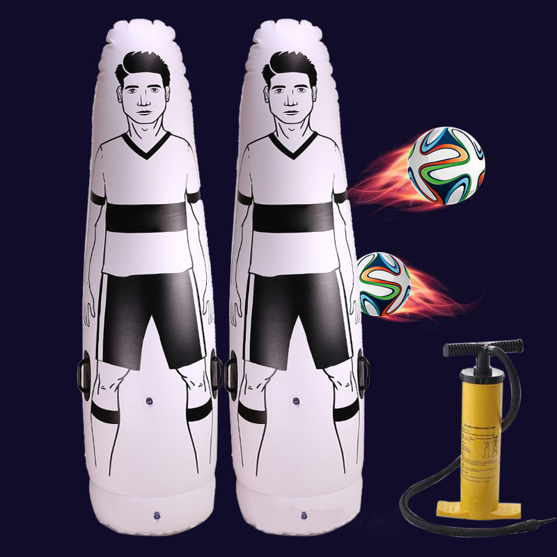 1.75m PVC Adult Inflatable Football Training Goal Keeper Tumbler Air Soccer Train Dummy Tool Inflatable Tumbler Wall