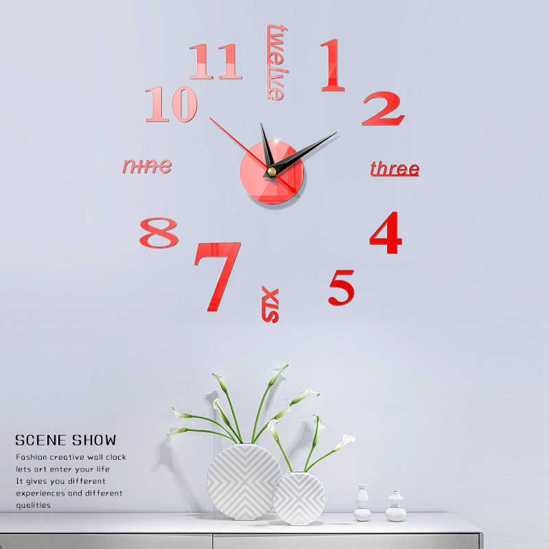 Home Dekore Wand Uhr Uhr Uhren Aufkleber Quarzuhr reloj de pared moderne design große dekorative uhren Europa Stil klok