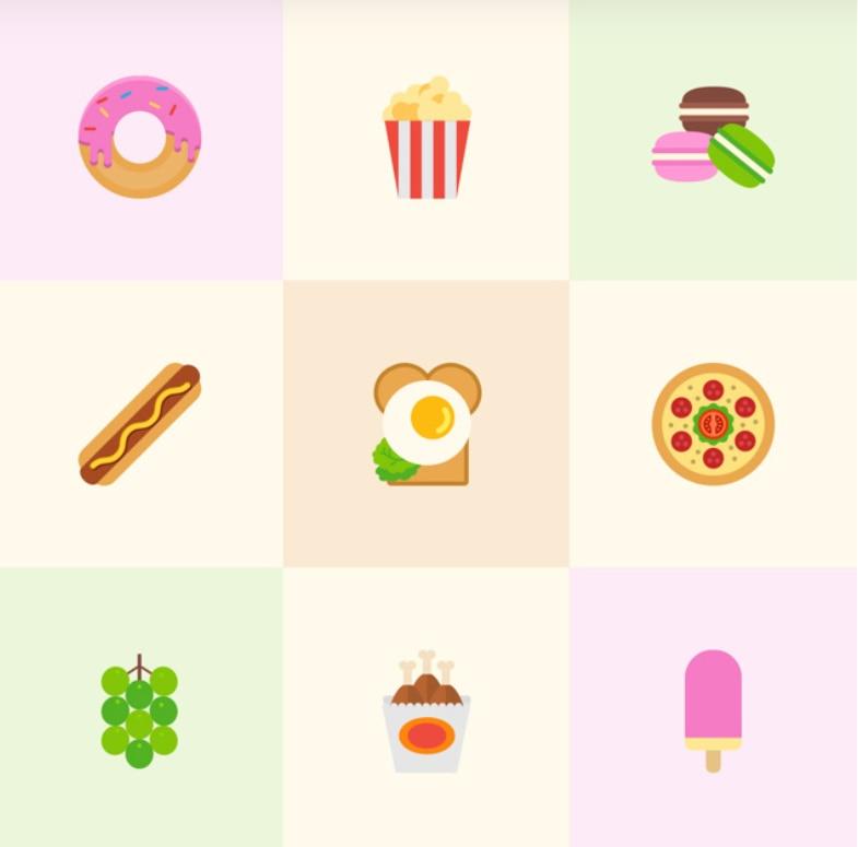 [AI模板]21个高质量食物图标 精美图标 第1张