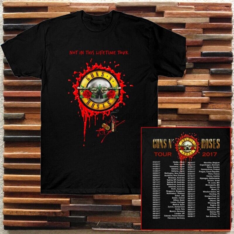 Guns N Roses Las Fechas De La Gira En Directo Live 2017 Negro Camiseta Tamaño S A 2xl Camisetas Aliexpress