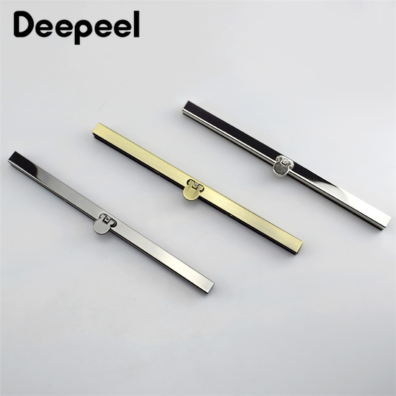 Deepeel 2pcs 19mm Metal Wallet Frame Kisss Clasp Handbag Lock Clutch Metal Handles DIY Sewing Bag Accessories Parts F1-74
