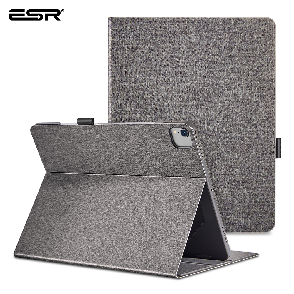 ESR Case For 2020 IPad Pro 11'' 12.9'' Inch 2nd/4th Generation Oxford Cloth Back Fold Stand Auto Sleep/Wake Up Smart Cover Case