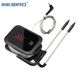 Image 1 - Inkbird Voedsel Koken Bluetooth Draadloze Bbq Thermometer IBT 2X Met Dubbele Probes En Timer Voor Oven Vlees Grill Gratis App Controle