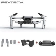 Pgytech 3 pçs para dji mavic mini extensão do trem de pouso + guarda controle remoto cardan lente capa