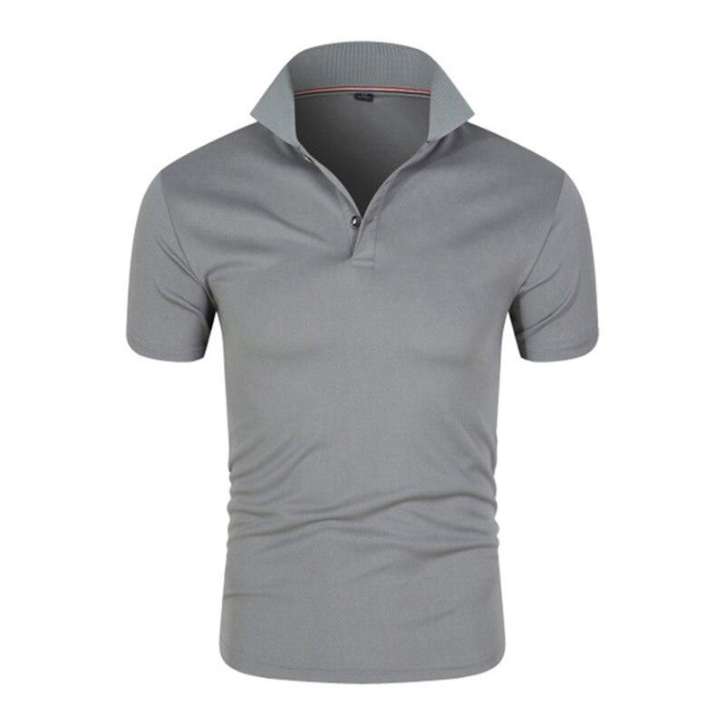 Рубашки-поло для мужчин, футболка с коротким рукавом, костюм на заказ, Качественная мужская футболка, летняя дышащая повседневная одежда дл...