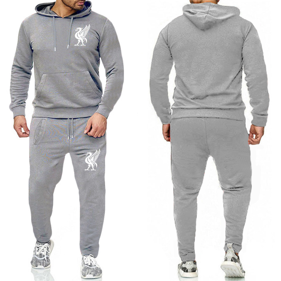 Fashion Brand New 2019 Tracksuit Fashion Hoodies Running Suit Men Sportswear Two Piece Sets Thick Hoody+Pants Sporting Suit Male