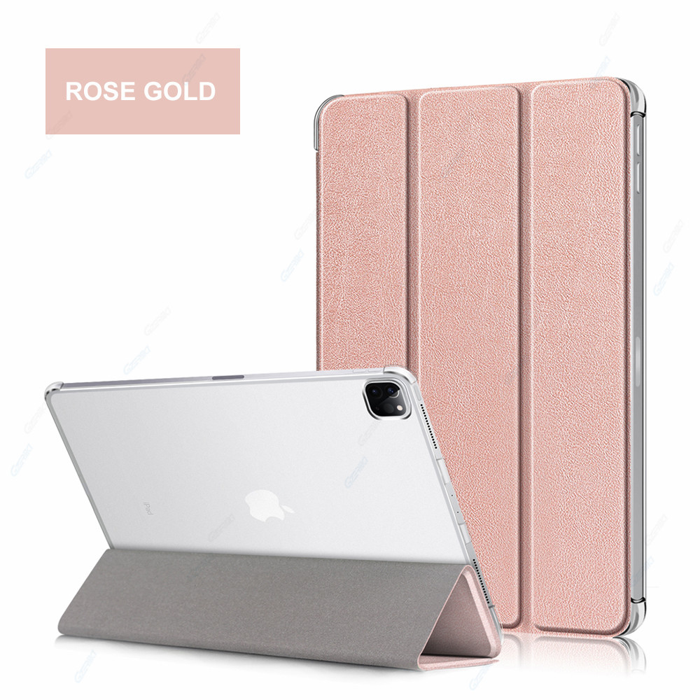 Rose Gold Pink GZERMA Case For iPad Pro 12 9 2020 Smart Case Auto Wake Sleep Folio Cover For