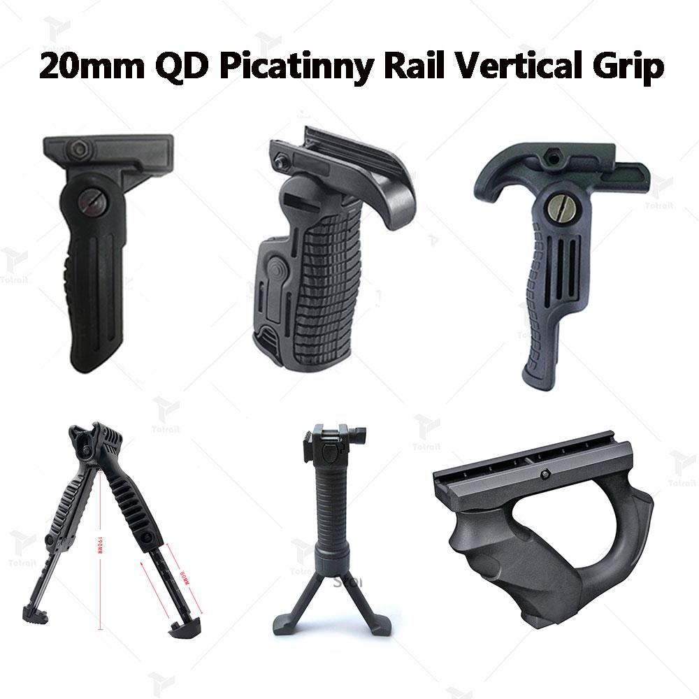 Тактический полимерный пистолет для страйкбола, рукоятка для Пикатинни, вертикальный захват, складной рукоятка для бипод, рукоятка для Пик...