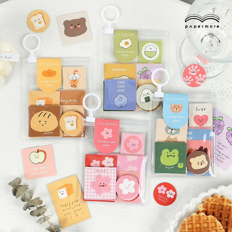40pcs/pack Cute Expression Story Series Kawaii Small Scrapbooking Stickers Aesthetic Paper Sticker Flakes Stationary Accessories