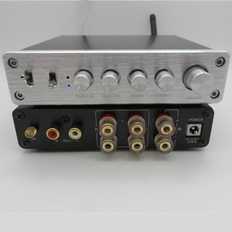 Готовые стерео цифровые аудио усилители 2*50 Вт + 100 Вт Bluetooth 4,0 HIFI TPA3116 2,1 усилитель баса сабвуфера