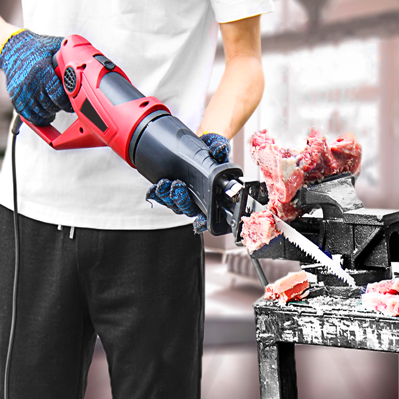 Household Bone Cutting Machine Bone Sawing Machine Trotters Steak Ribs Frozen Meat Frozen Fish Bone Chainsaw Cutting Tools 220V