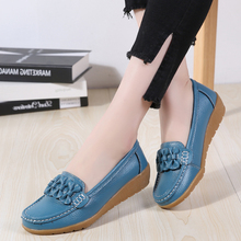 New Women Flats Genuine Leather Shoes Wo