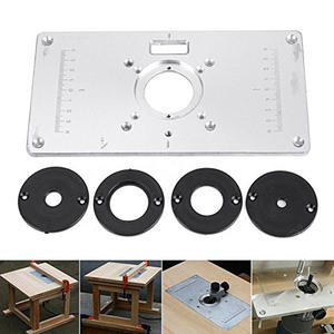 Table-Plate Router Woodworking Benches 700C for 235mm-X-120mm-X-8mm Screws 4-Rings