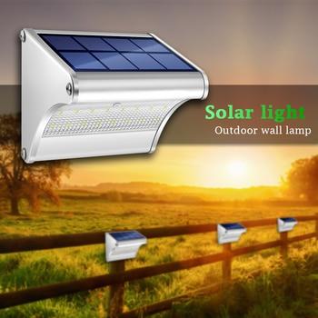CHIZAO LED Solar Power Lamp PIR Motion Sensor Metal Solar Wall Light Outdoor Waterproof Garden Super Bright Energy Saving Lamp 2