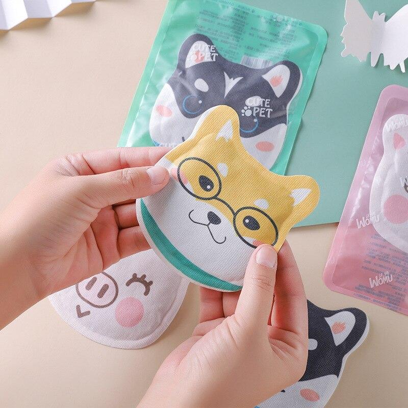 5pcs/lot Warm Adhesive Sticker Cute Cartoon Lasting Heat Patch Body Heat Winter Hand Menstrual Pain Relief Warm Paste Pad