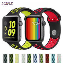 Strap For Apple Watch 4 Band correa apple watch 42mm 38 mm 44mm 40mm iwatch series 5 4 3 2 silicone pulseira bracelet watchband цена и фото