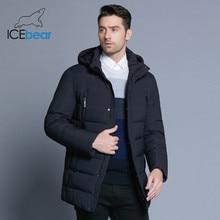 ICEbear 2019 nuovo rivestimento degli uomini di inverno con tessuto di alta qualità staccabile cappotto caldo delle semplici mens del cappello per uomo cappotto MWD18945D