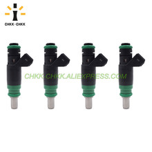 CHKK-CHKK NEW Car Accessory 1429840 98MF-BB fuel injector for Ford Fiesta V 2001~2008 Fusion 2002~2012 1.4 ветровики ст ford fiesta hb5d 2002 2008