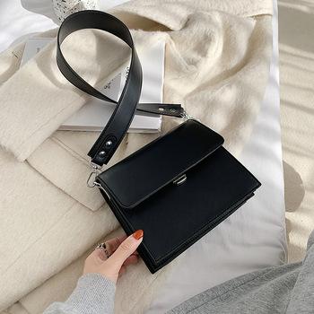 Damskie torby na ramię 2020 zimowe nowe torby Messenger Retro torby damskie luksusowy projektant torby damskie codzienne torby damskie tanie i dobre opinie Na ramię i torby crossbody CN (pochodzenie) Flap WOMEN Hasp HARD Stałe Klapa kieszeni Pojedyncze Moda Wnętrze slot kieszeń