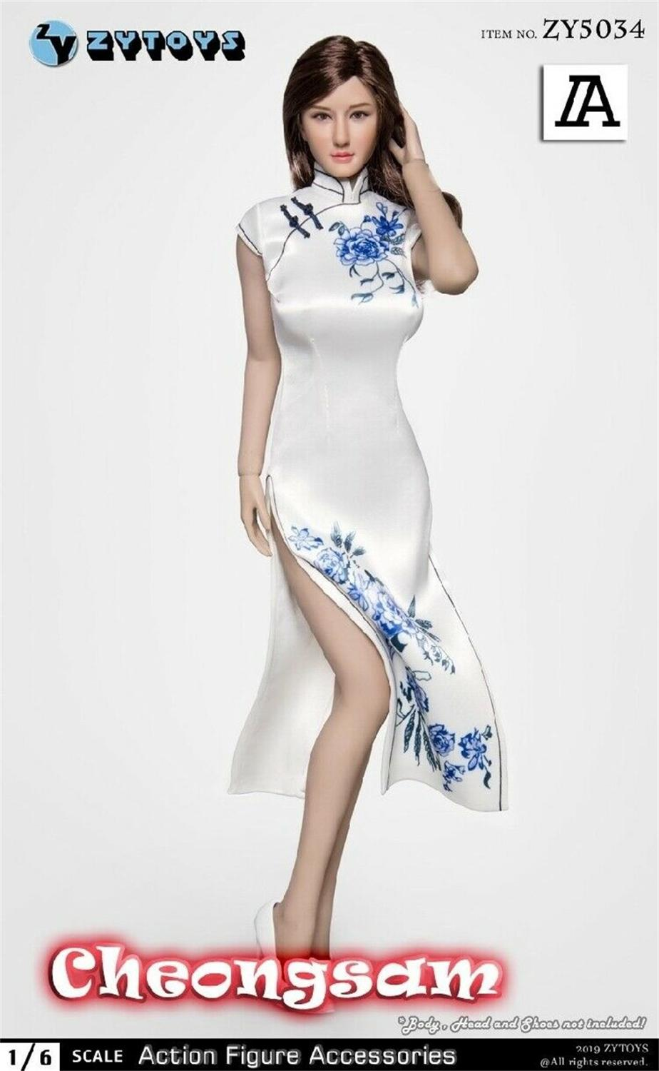 """1//6th Female Figure Cheongsam Clothes Accessories for 12/"""" Phicen//TBLeague Body"""