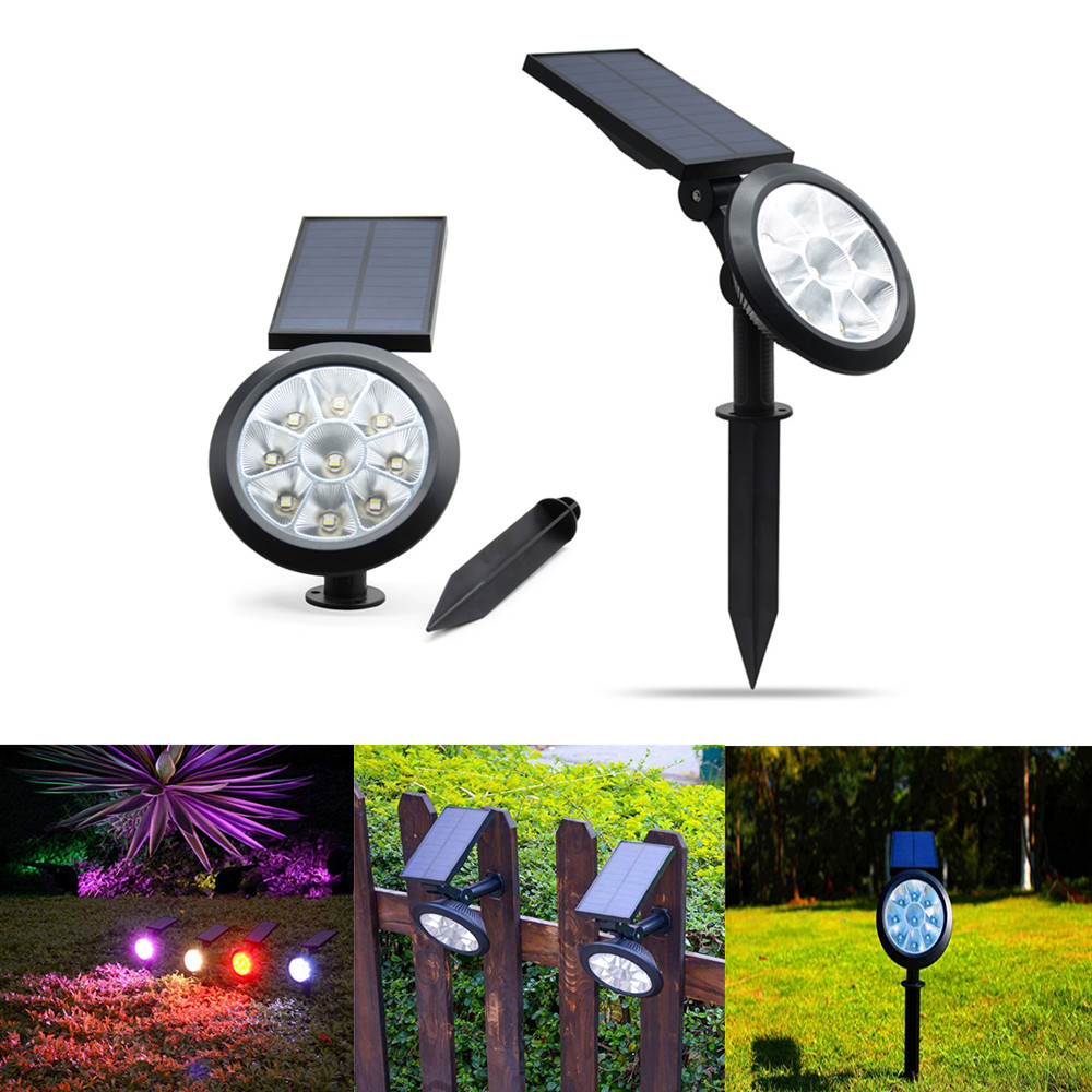 9 LED Solar Light Outdoor Portable Lawn Light Waterproof For Yard Patio Decoration Garden Lamp Home Security Wall Light Light