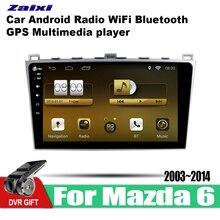 ZaiXi 10.1 Inch 2Din Android Car Radio Wifi Autoradio HD Bluetooth Tochscreen GPS Multimedia Player For Mazda 6 2003~2014