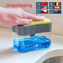 Automatyczny dozownik mydła butelki na mydło w płynie gąbka kuchenna dozownik mydła w płynie gąbka kuchenna dozownik ręczny dozownik mydła