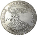 Чили Республика песо 1828 COQUIMBO Посеребренная копировальная монета