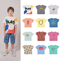 Boys T-shirts Kids O-Neck T-shirts Girls Short-sleeved Tops Cute Cartoon T Shirts Spring Summer 2021 Children's Clothing 1-11Y