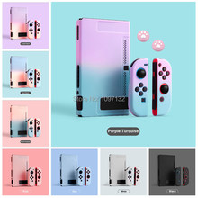 Kawaii przełącznik do nintendo różowe etui twarde etui ochronne Shell dla Nintendos przełącznik konsoli JoyCon kolorowe tylna pokrywa odpinany