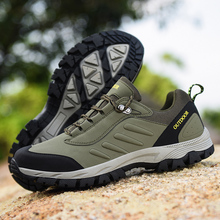 купить Big Size 48 Hiking Shoes Men Outdoor Off-road Climbing Desert Hunting Sneakers Youth Non-slip Wearable Trekking Sports shoes Hot дешево