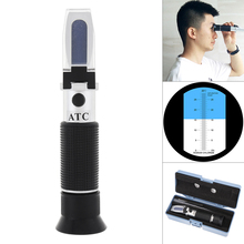 Handheld 0~28% Salinity Adjustable Salinity Refractometer Food Salinometer with Pipet &Mini Screw Driver Support Manual Focusing цена 2017