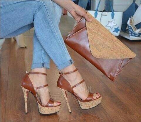 Трендовые женские босоножки на коричневом каблуке женские модельные туфли на платформе с открытым носком, с вырезами, с пряжкой и ремешком ... - 3