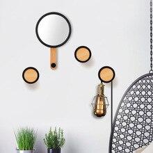Creative Hook Decoration Hanging Mirror Wall Wooden Coat Hook  BambooSolid Wood Coat Hook Hanger Rack Hat Rack Stand