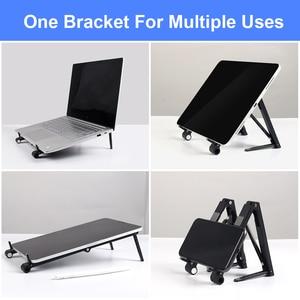 Image 2 - Laptop Mini Giá Đỡ Có Thể Điều Chỉnh Di Động Điện Thoại Đứng Hỗ Trợ 3in1 Xách Tay Chân Đỡ Cho Macbook iPhone Ipad