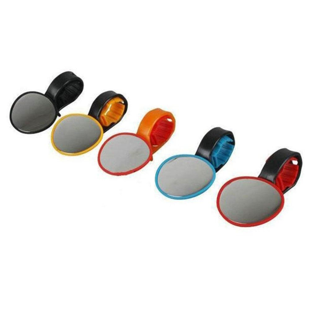 Universal Bicycle Bar End Back Mirror Adjustable 360° Rotation Rear View Mirror Round Bike Mirror Clip For MTB Rode Bike
