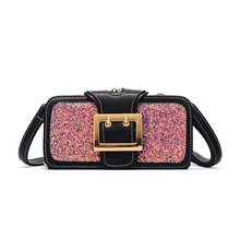 bags for women 2019,New style small square bag fashionable womens sequined single shoulder cross-body