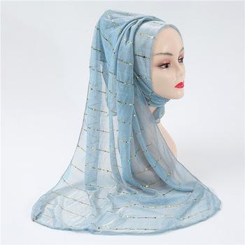 2020 nowy hijab dla muzułmanek szalik femme musulman miękkie czyste złoto jedwabne chusty hidżab muzułmański cover-up szale i okłady tanie i dobre opinie Zwykły hijabs COTTON Dla dorosłych Twill W18031 Moda 40 colors 0 08kg 70*180cm