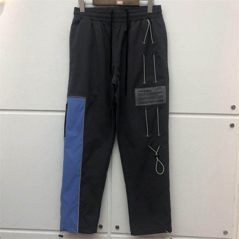 A-COLD-WALL Pants New Men Women Hip Hop A-COLD-WALL Pants Cargo ACW Overalls Gray-blue Stitching Trousers
