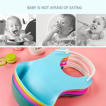 Kid Infant Bibs Baby Soft Silicone Bib Waterproof  Dripping Toddlers Children Feeding Tools Boy Girl