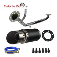 610 mm Motorcycle Retro Tail Exhaust Pipe Muffler Silencer Performance System Kit For ATV GY6 150cc 4 Stroke Scooter