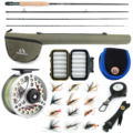 Maximumcatch 3-8WT Fly Fishing Combo 8'6''/9' Medium-schnelle Fly Stange Pre-gespoolt Fly Reel & Fly Linie Mit cordura Dreieck Rohr