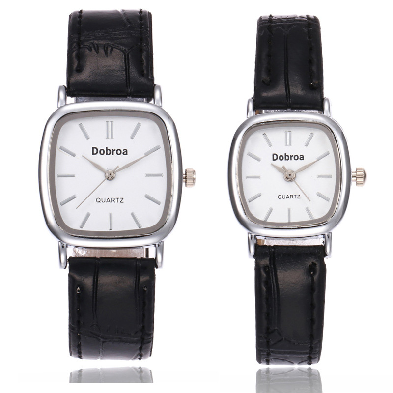New Square Watches Men Women Casual Leather Strap Quartz Unisex Student Watch  Women's Dress Couple Watch Clock Gifts Relogios F