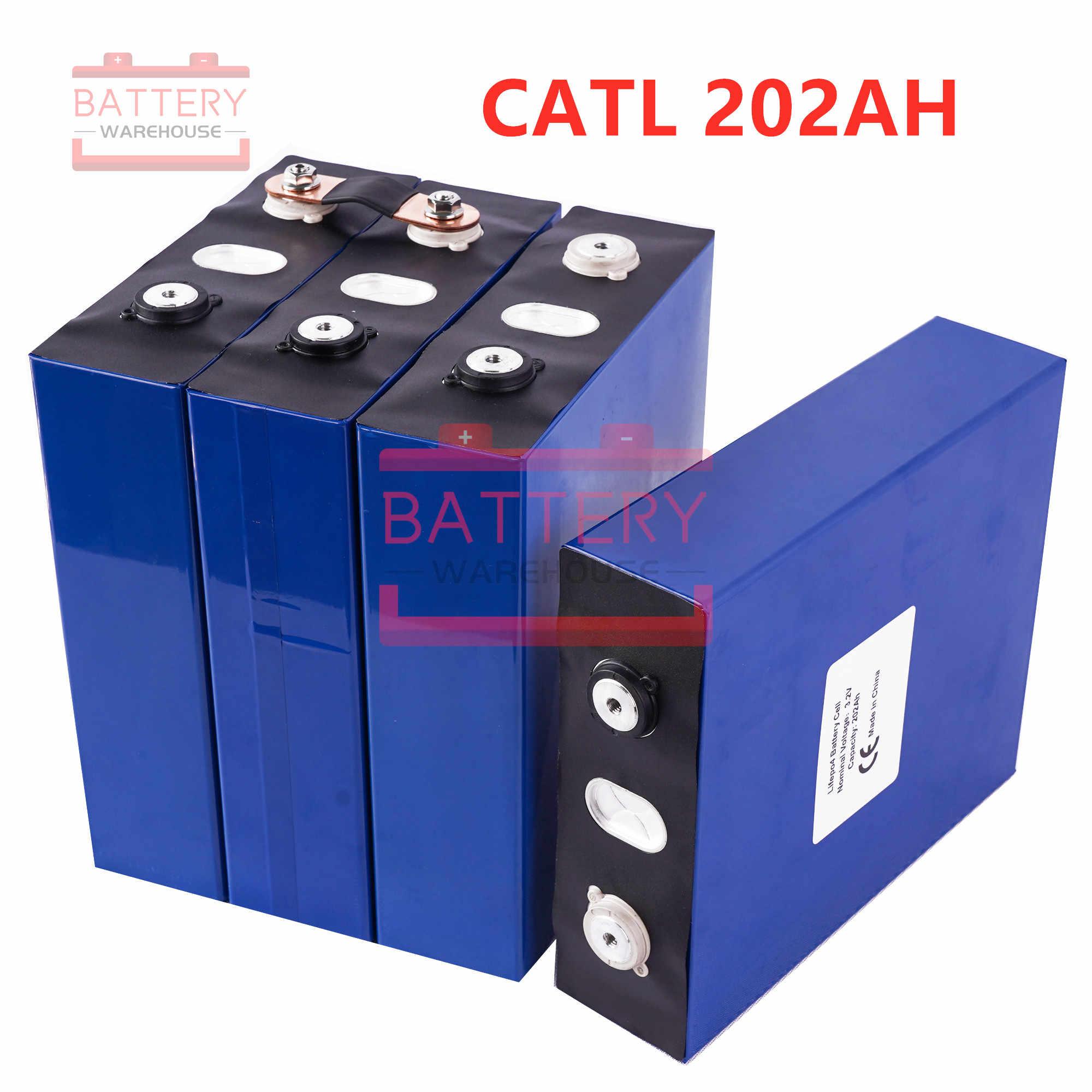 "8PCS CATL LIFEPO4 סוללה 3.2v200AH 2019 חדש נטענת סוללות תא עבור 24V200AH עבור RV שמש EV ימי האיחוד האירופי בארה""ב מס מע""מ משלוח"