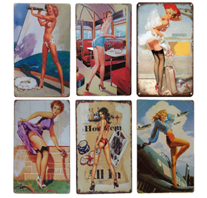 1 шт., металлический постер, сексуальная жестяная вывеска для девочек, винтажный Ретро Декор для дома, декор для стен, бара, паба, клуба, мужчины, девушки, металлическая вывеска, железная Раскрашенная доска