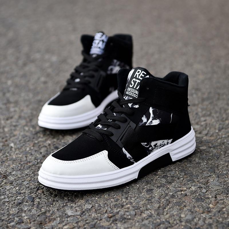 Men Shoes Fashion Comfortable Men Casual Shoes High Top Non-slip Sneakers For Men Outdoor Flats Shoes Zapatillas Hombre NanX169