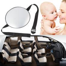 Espejo de seguridad fácil de ver para el asiento trasero del coche, elegante, para espacio trasero del bebé, Monitor redondo para niños y Cuidado infantil