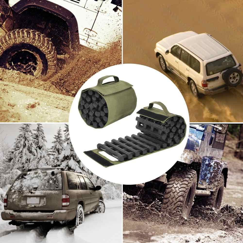 Traction Aid 23.6 Inch Traction Aid Grip Mat Recovery Traction Mat Board Sand Mud Snow Track Tyre Ladder Anti-Slip Chains for Off-Road Caravan Car Truck