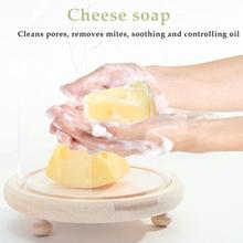 Cheese Soap Sea Salt Soap Moisturizing Oil-control Anti-acnes Cleansing Body Soap Anti-mites Soap Plant Brushed Face R3E1